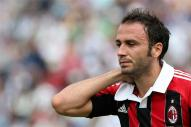 AC Milan's Giampaolo Pazzini reacts during the Serie A soccer match against Udinese at Friuli stadium in Udine