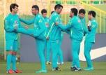 Brazilian national soccer team training