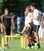 kaka first training milanello (2)