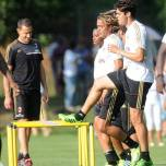 kaka first training milanello (2)